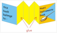Simple Paper Craft Music Instruments Book