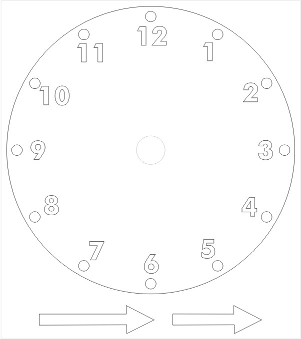 Printable Paper Clock Template