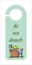 Do Not Disturb Door Hanger Template