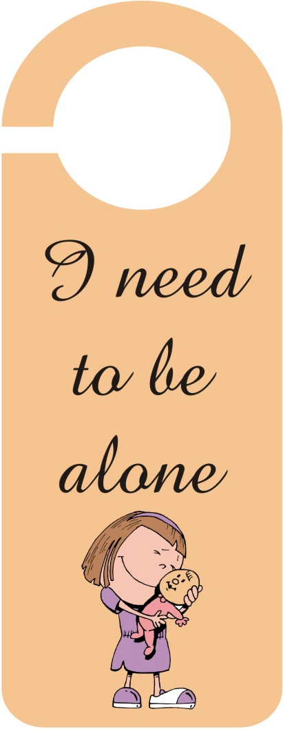 I Need To Be Alone Door Hanger Template Craft Ideas