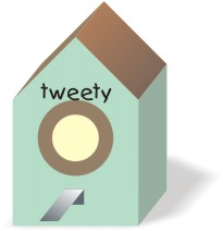 printable bird house template
