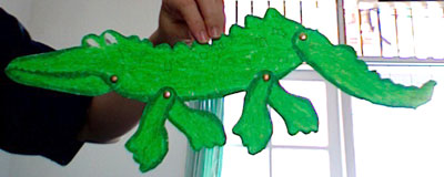 Printable Crocodile Paper Craft