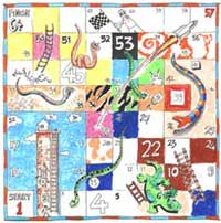 printable snakes and ladders template