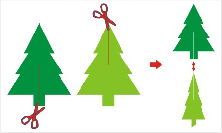 3d Paper Christmas Tree Template.3d Pine Tree Paper Craft Template Craft Ideas For Kids
