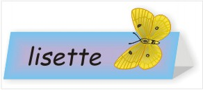 Butterfly Name Plate Kid's Craft