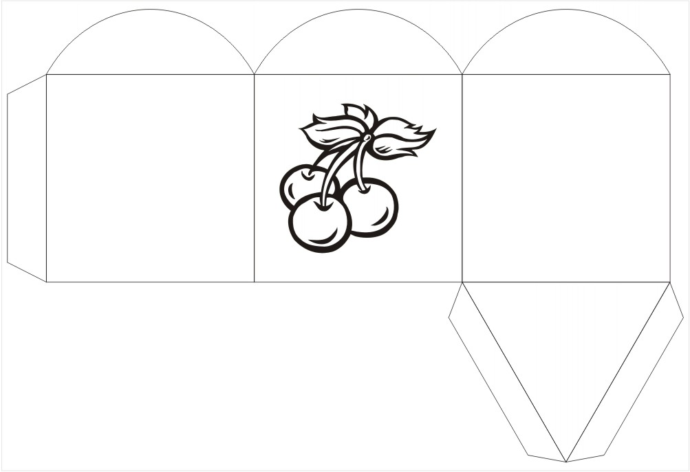 Cherries Triange Box Template