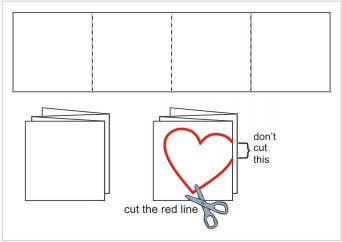 How to create Valentine Card With Flowers - Template/Pattern