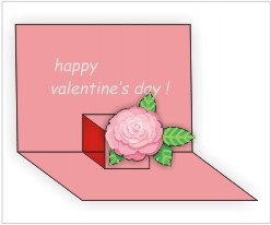 Valentine Pop-up Card Template