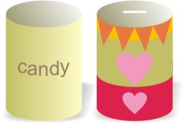 Printable Candy Can Bank Template