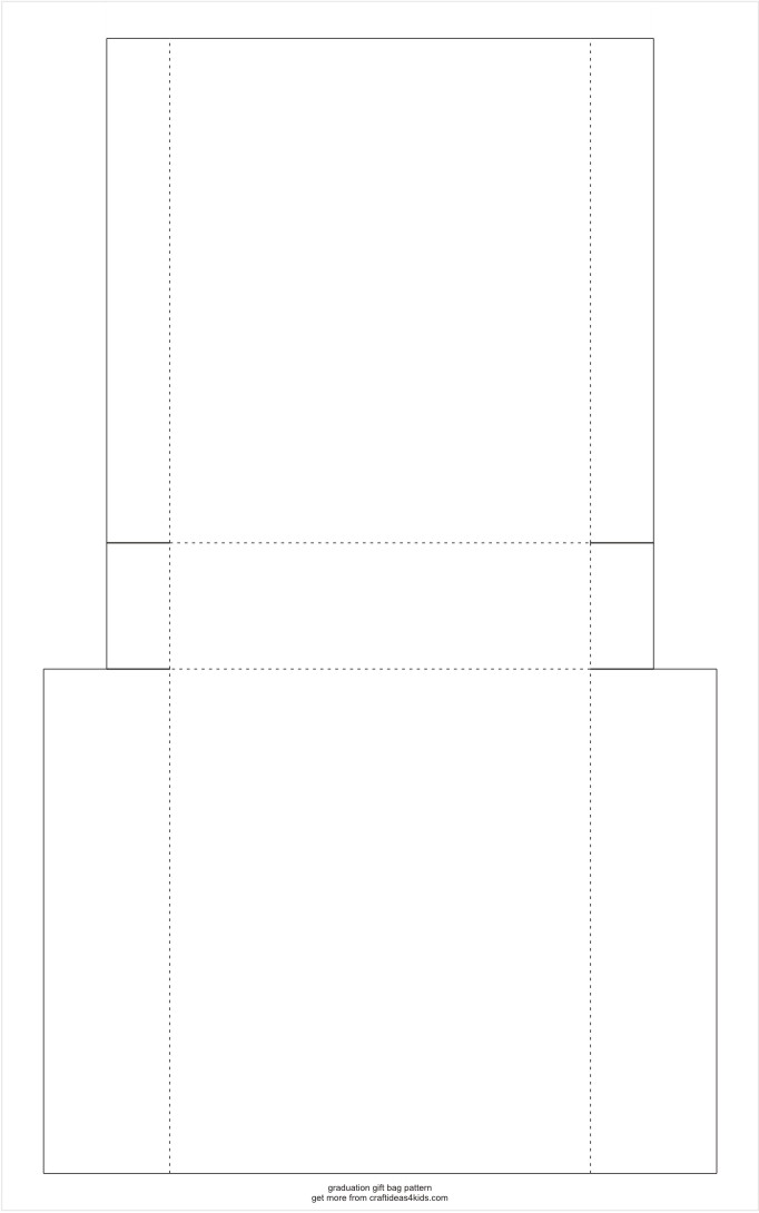 Graduation Gift Bag Pattern Template