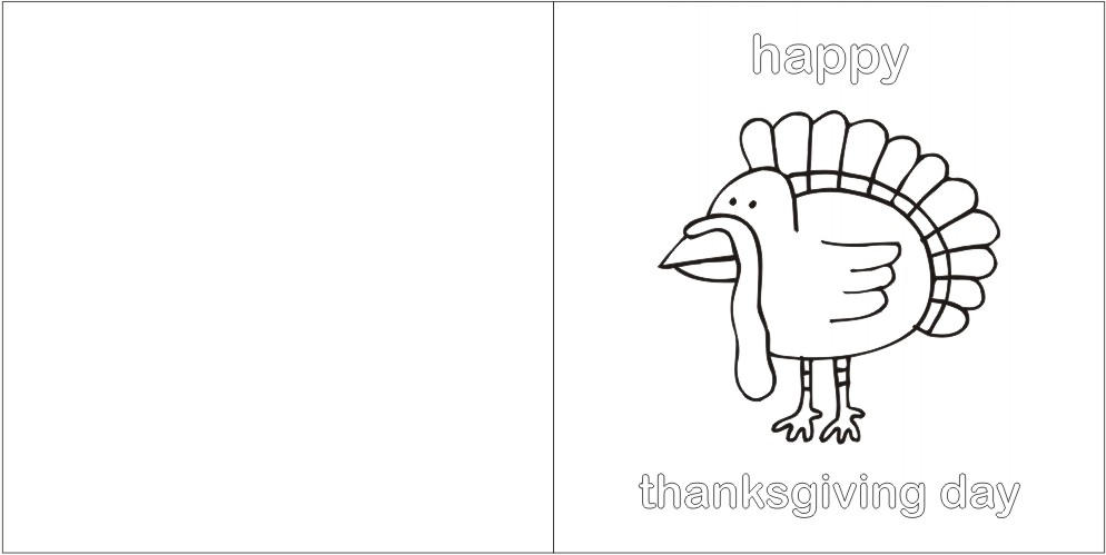 picture relating to Printable Turkey Patterns called Printable Thanksgiving Greeting Card Craft Tips for Little ones