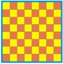printable checkerboard paper craft pattern